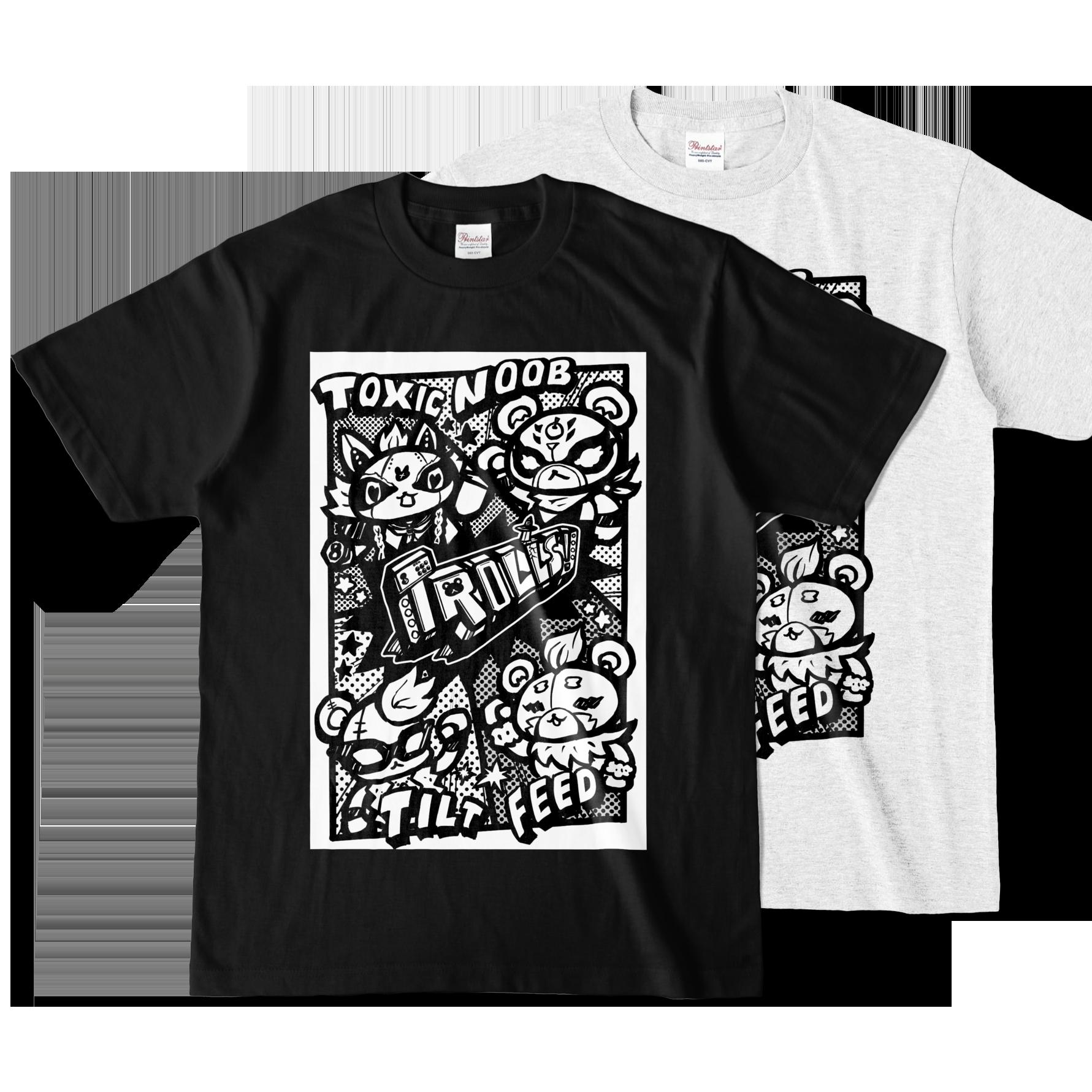 trollsTシャツ-黒01
